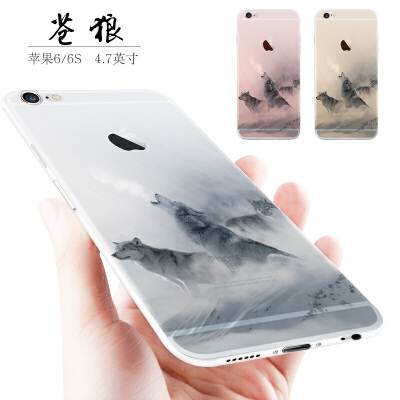 苹果6手机壳男女款个性创意硅胶防摔全包六潮套iphone6plus