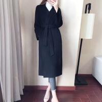 毛呢外套女中长款秋冬季女装学生韩版宽松显瘦呢子大衣长款过膝
