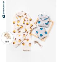 【2件4折】迷你巴拉巴拉儿童家居服2020春装男女童宝宝内着套装卡通睡衣