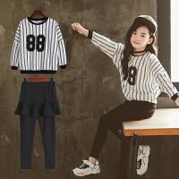 儿童春秋装韩版2018新款套装童装秋季大女童运动服女孩卫衣两件套
