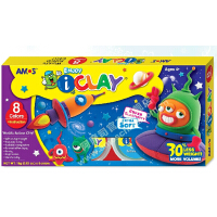 AMOS儿童轻粘土 彩泥套装 手工DIY黏土8色 太空玩具无毒