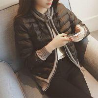 2019冬装女韩版时尚短款加厚保暖小棉袄轻薄外套宽松棉衣 咖啡色 图片色 M 80-95斤