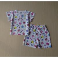 宝宝绵绸套装男女儿童纯棉绸睡衣短袖套装婴儿夏装中小童睡衣