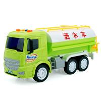 工程车玩具套装大号婴儿童系列快递环卫洒水电动模型