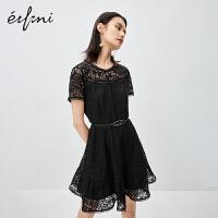 伊芙丽连衣裙女2020年新款夏季赫本风夏天闺蜜装法式复古蕾丝裙子