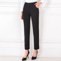 职业西装裤女夏季女士面试工作服正装黑色西服裤子薄款直筒九分裤