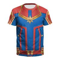 欧美女装复仇者联盟漫威英雄短袖cosplay惊奇队长T恤衣服动漫周边圆领服装 B121-262