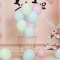 马卡龙气球婚庆用品结婚浪漫装饰场景布置生日派对糖果色气球