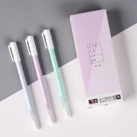 金万年13002中性笔 全针管0.38mm碳素水笔 商务签字笔 考试笔 学生/办公用笔 一盒12支