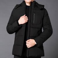男士冬季外套加厚保暖爸爸棉衣短款棉服2019新款