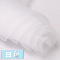 欧根纱布料面料 纱布服装黑色白色网纱批发透明硬纱薄纱 蕾丝布料 1号白色(加密款)/1米价