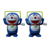 儿童上链发条玩具小动物跳绳机器猫会跑的宝宝上劲小玩具婴儿