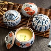 家用陶瓷带盖汤盅炖锅隔水蒸蛋盅汤锅煲汤内胆炖罐汤煲燕窝小炖盅