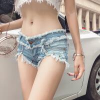 女装内衣抹胸2019新款超短裤主播三角齐女比冬外穿小短镂空性感紧身牛仔超低腰 图片色短裤