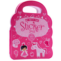 My Pretty Pink Stickers Bag我的漂亮粉色贴纸包 英文原版绘本 儿童启蒙平装贴纸书 亲子互动