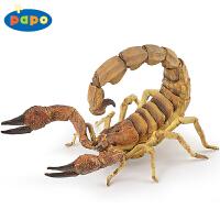 法国PAPO仿真动物蝎子模型玩具孩子礼物仿真教具道具