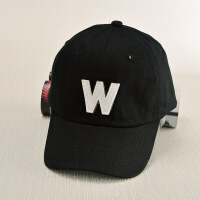 夏季新款韩版字母贴布帽子 男女时尚户外遮阳鸭舌棒球帽 W黑色JX213 可调节