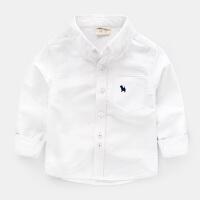男童长袖衬衫春装春秋童装儿童宝宝白色衬衣1岁3小童寸潮婴儿