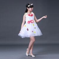 新款儿童公主裙蓬蓬纱裙礼服幼儿园舞蹈表演服装现代合唱