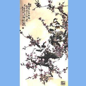 河南美术家协会会员,新乡市美协会员,河南国画轩画廊特约画家武三丁(梅花枝上春如海)