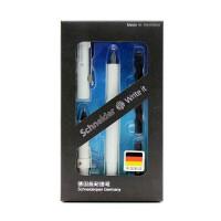 德国进口施耐德(Schneider)钢笔 BK400套装系列白色款(F尖+走珠笔头+墨胆+笔盒)学生练字成人商务钢笔书