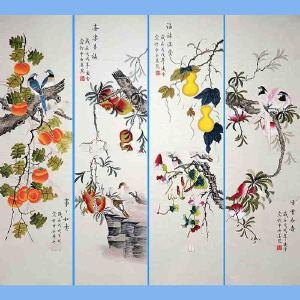北京市美协会员,北京著名工笔画家凌雪(幸福吉祥)