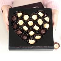 19格 爱心形蝶恋花 情人节礼物手工diy巧克力包装盒礼品盒 包装盒1个,不 19格,送小号纸托