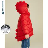迷你巴拉巴拉婴儿羽绒服男宝宝衣服2019冬新款恐龙造型羽绒外套