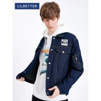 2.5折价:323;Lilbetter羽绒服男冬装短款牛仔外套新款轻薄羽绒服帅气潮牌冬衣