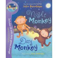 Night Monkey, Day Monkey(Book&CD) 夜猴,日猴(《咕噜牛》作者,茱莉亚-唐纳森新作)