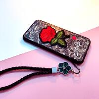 日韩苹果6s手机壳7plus创意玫瑰保护套i8挂绳女款iPhone X个性潮