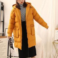 【P】2.5斤L@5 2019新款冬季韩版时尚棉衣大衣女中长款连帽