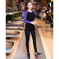 瑜伽服套装女秋冬新款健身服修身运动跑步服含胸垫莫代尔