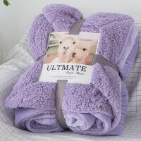 冬季双层加厚珊瑚绒法兰绒毯子单人双人盖毯午睡毯毛毯被子