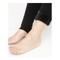 冬款加厚保暖打底裤双层护膝紧身女士连裤袜暖腰护宫踩脚一体裤袜 黑色 均码