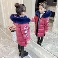 儿童棉衣中长款冬季2018新款女孩厚款棉袄保暖外套