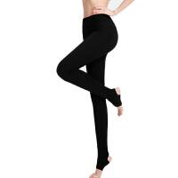 瑜伽服长裤跑步运动健身裤瑜伽裤女紧身脚踩裤莫代尔