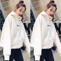 学生秋冬季卫衣女士加绒加厚韩版长袖宽松外套女装上衣