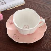 欧式咖啡杯套装创意骨瓷陶瓷英式咖啡杯碟下午茶茶具 绿色