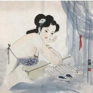 中国美协会员,毕业于中央美院的白伯骅(夜读图)31