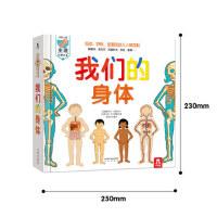 我们的身体 立体科普翻翻书洞洞书2-3-3-4岁-礼品精装触摸书互动阅读 3D立体书 揭秘身体人体奥秘 科普阅读 书籍