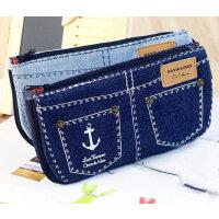 日韩国可爱款文具 可爱创意 清新 帆布 航海 短裤 大容量 笔袋