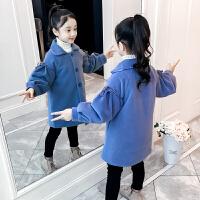 儿童外套冬季2018新款韩版中长款加厚毛呢大衣女孩