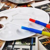 美乐画画工具 儿童调色盘 10格椭圆多功能水彩调色盘 塑料颜料盘