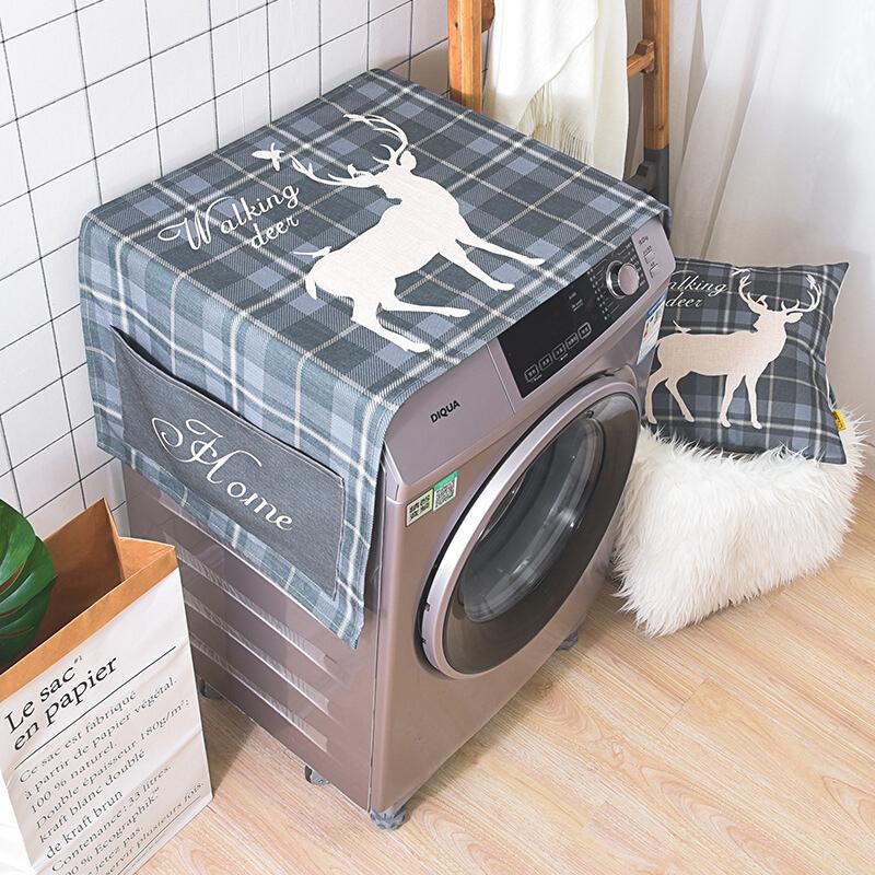 北欧全自动滚筒洗衣机防嗮盖布海尔西门子单开门冰箱加厚防尘盖巾   购好货,上京东!购好货,来卓展!