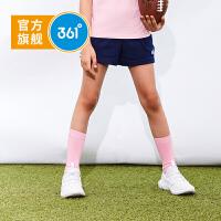 【超品日4折价:47.6】361度童装 女童针织短裤2019年夏季新品儿童裤休闲裤N61923501