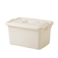 加厚收纳箱塑料整理盒有盖玩具筐特大号衣服被子透明周转储物箱子