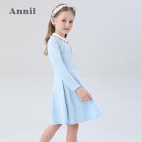 【活动价:159】安奈儿童装女童连衣裙长袖2020春季新款小女孩学生学院风打底裙子