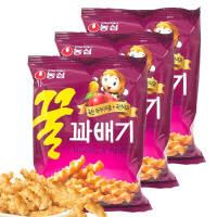 【包邮】韩国进口 农心蜂蜜花生小麻花脆条*3袋