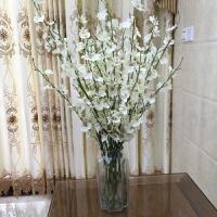黄色跳舞兰仿真花束塑料花假花套装室内装饰花干花客厅摆件花艺
